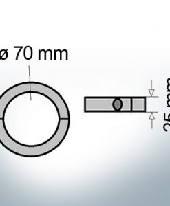 Shaft-Anode-Rings with metric inner diameter 70 mm (Zinc) | 9041