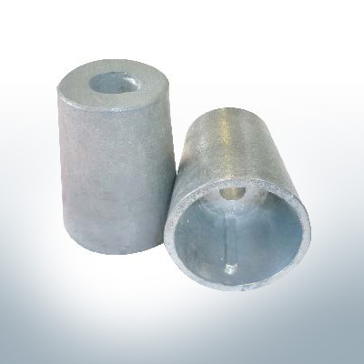 Shaftend-Anodes conical with retainer key 40 mm (Zinc) | 9440