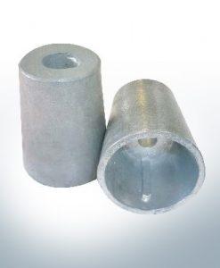 Wellenendanoden konisch mit Keil 45 mm (Zink) | 9441
