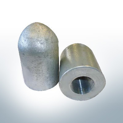 Tapered Shaftend-Anode 1'' Pipe (AlZn5In) | 9449AL